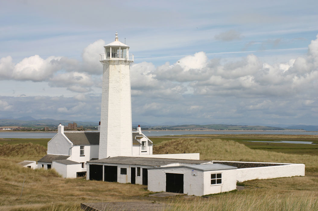Lighthouses of northwest england 24 m 80 ft octagonal stone tower with lantern and gallery painted white 2 story duplex keepers house now a private residence and other buildings sciox Choice Image